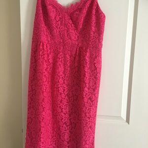 J. Crew Pink Lace Slip Dress NWT!